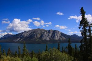 Escarpment Mountain - Tagish Lake by Caloxort