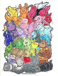 30 Chinchillas by ZombiDJ