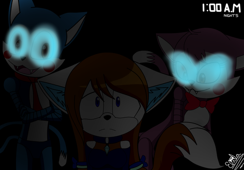 Sofia the cat and five nights at candys by UkyoLovest
