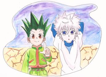 Gon and Killua (Hunter x Hunter) by 3pOTuKa