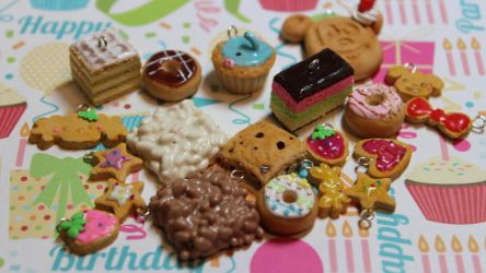 Polymer Clay Charms by funkypinkgal