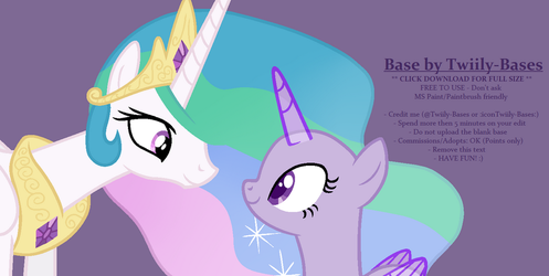 MLP Base 310 - Princess Celestia X OC by ShiiBases