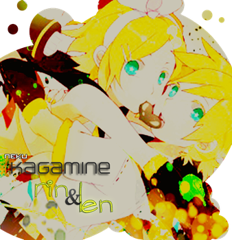 kagamine rin and len by appleonia