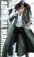 One Piece Wallpapers Mobile : Admiral , Kuzan by Fadil089665