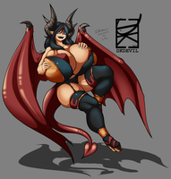 Engorged Demoness Lessien by DKDevil