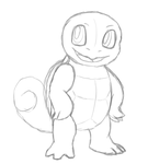 Swaggy Squirtle Sketch by Ashidaru