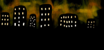 Night Looming in the City by LindArtz