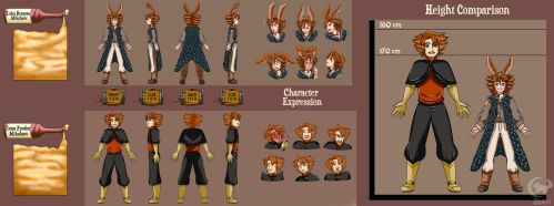 Character Sheet Commision - Luka and Ivan by Shiko-k