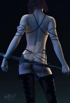 Fille A L Epee by Lunathyque