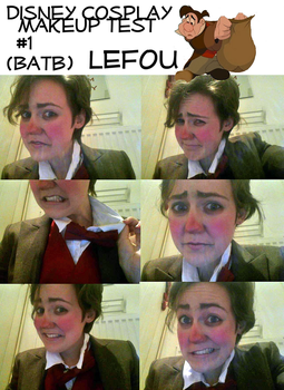 Cosplay Makeup test- Lefou by snaggle-berry