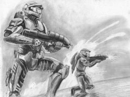 Halo drawing by Hulkster77