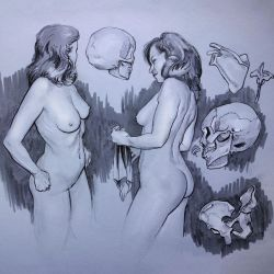 nudes and skulls 2 by mattdonnici