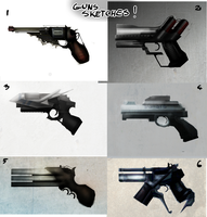 Guns sketches by Kudlaty25