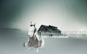 Snowman Wallpaper by madeinjungle