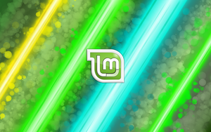 Linux Mint Glitter Rays by sonicboom1226