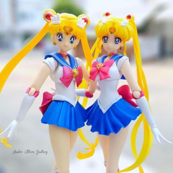 Sailor Moon 90s ver. and Sailor Moon Crystal ver. by smgallery9