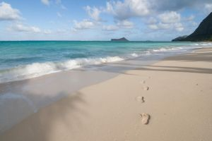 Hawaii Beach Footprint Stock by leeorr-stock