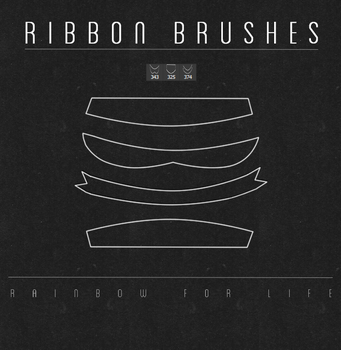 Ribbon brushes by raibowforlife