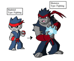 Fakemon: HADOKEN by Brian12