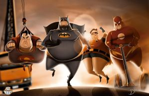 FAT HEROES (DC) by CarlosDattoliArt