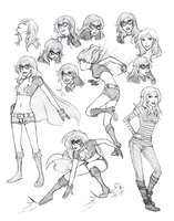 Radioactive Girl Sketches by WhipsmartMcCoy