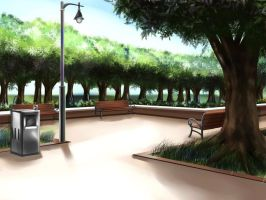Park Background by AmberClover