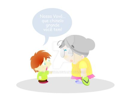 Kid and grandmother by Poipoire