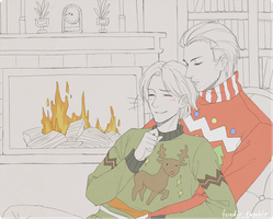 ugly sweater party. by feredir