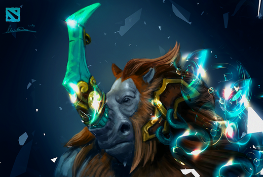 Magnus dota 2 fan Art by MatteoAscente