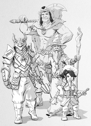 Dungeons and Dragons Commission 2 by JoeyJulian