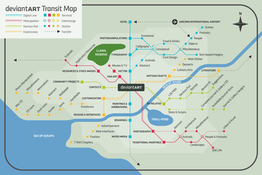 My dA Transit Map by pica-ae