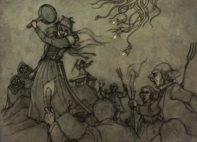 Hopeless, Maine RPG - Combat chapter cover-pencils by CopperAge