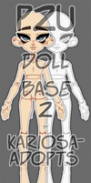 P2U Doll Base Version 2 by Kariosa-Adopts