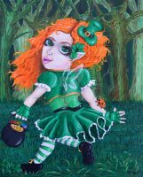 Keira the St. Patrick's Fairy by ChibiKuma1986