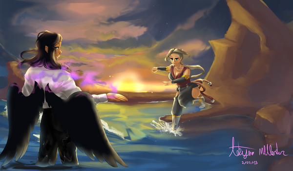 The Battle at Sunset by Mango-Nectar