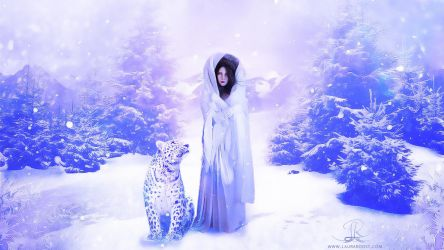 The winter queen and her fellow traveller by Naelle-dev