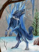Ice Wolf Commission by Lucky978