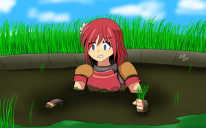 Hope Girl in Quicksand (Commission) by Lady-of-Mud