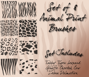 Animal Print Brushes by Cyb3rPaw