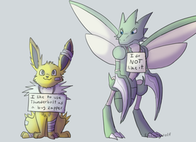 Pokeshaming: Jolteon by racingwolf