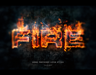 Fire photoshop text effect layer styles set by Giallo86
