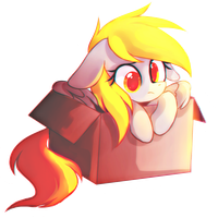 Derpy in the box by MirtaSH