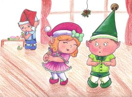 The Elves Christmas Party by Myrcury-Art