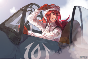 Commission - 1930's Air Pilot Cordelia by nayuun