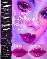 Glossy Makeup Brushset for Procreate by heymaryjean