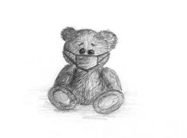 sad teddy by Sarippus