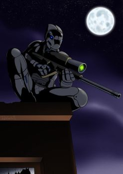 Sniper on the roof by ReptileCynrik