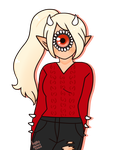 [ red sweater ] by hello-planet-chan