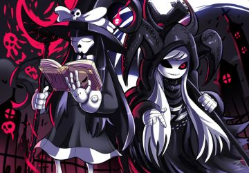 Commission - The Witch and the Reaper by ichimoral