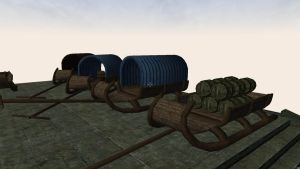 Sleds meshes for Morrowind 5 by Berandas